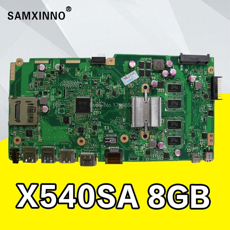 X540SA Motherboard 8G RAM N3700/N3050 For ASUS X540SA X540S X540 F540S laptop Motherboard X540SA Mainboard X540SA Motherboard цены
