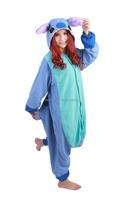Hot !!! New Arrival Fashion Anime Unisex Adult Animal Pajamas Pink/ Blue Lilo Stitch Onesie Cosplay Costume Sleepwear All Size