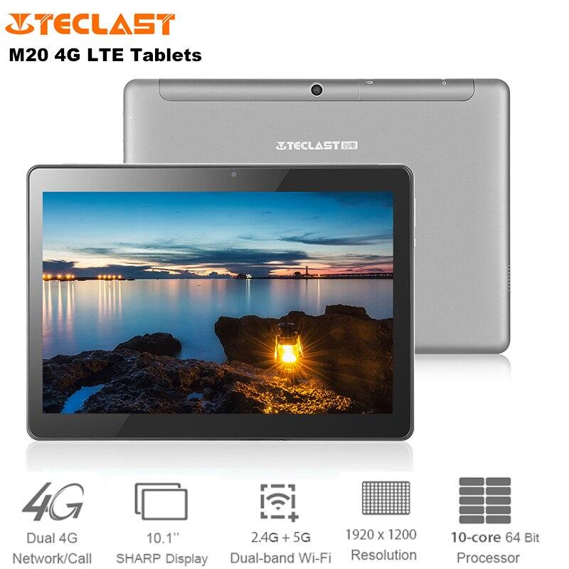Teclast M20 4G LAISSEZ Téléphone Appel Tablet Android 8.0 10.1 Pouces MTK6797 Deca Core 4 GB + 64 GB comprimés PC Dual Band 2.4G/5G Wi-Fi 6600 mAh