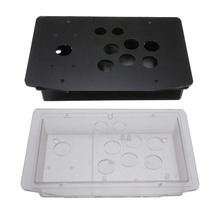 2 pçs diy lidar com jogo de arcada joystick acrílico painel + caso conjunto kits substituição