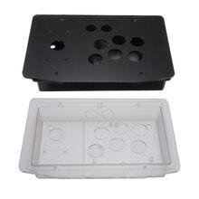 2 sztuk DIY uchwyt Arcade joystick do gier panel akrylowy + Case zestaw zestawy wymiana