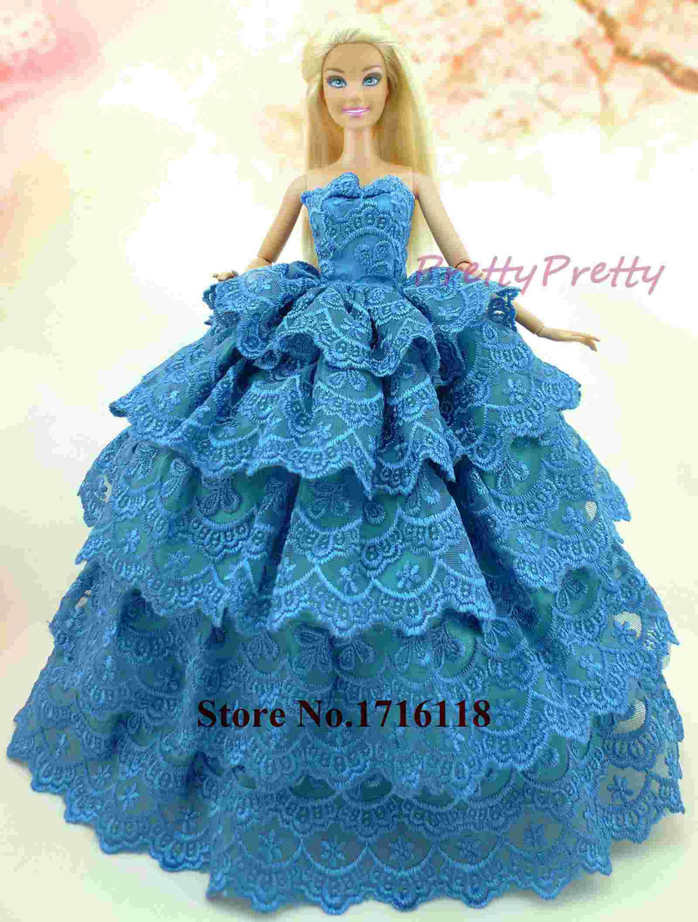 Free Shipping Handmade Princess Doll Dress Wedding Clothes Fashion ...