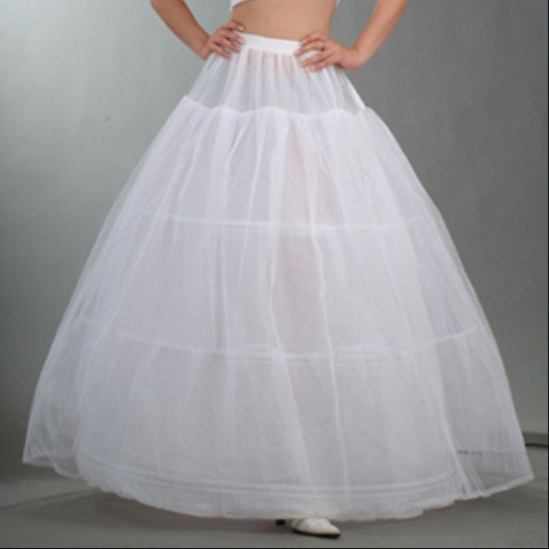 2017 cheap white long hoop crinoline petticoat for wedding for Tulle petticoat for wedding dress