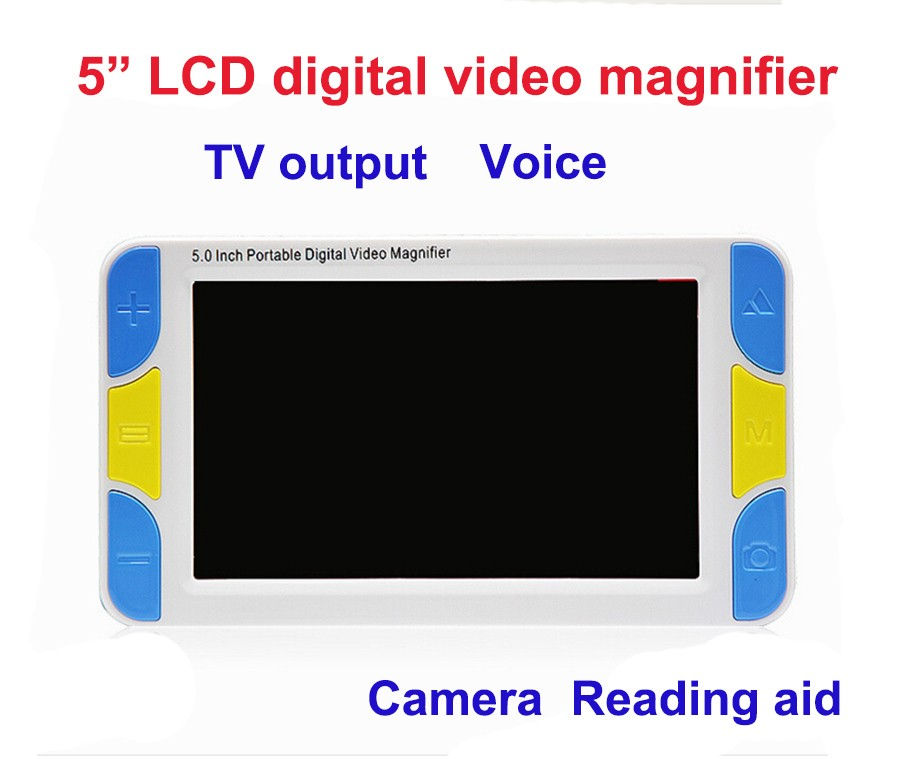"""5"""" LCD Display Low Vision Video Magnifier electronic reading aid, Digital  Handheld portable Video Magnifier-in Magnifiers from Tools"""