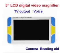 "5"" LCD Display Low Vision Video Magnifier electronic reading aid, Digital  Handheld portable Video Magnifier"