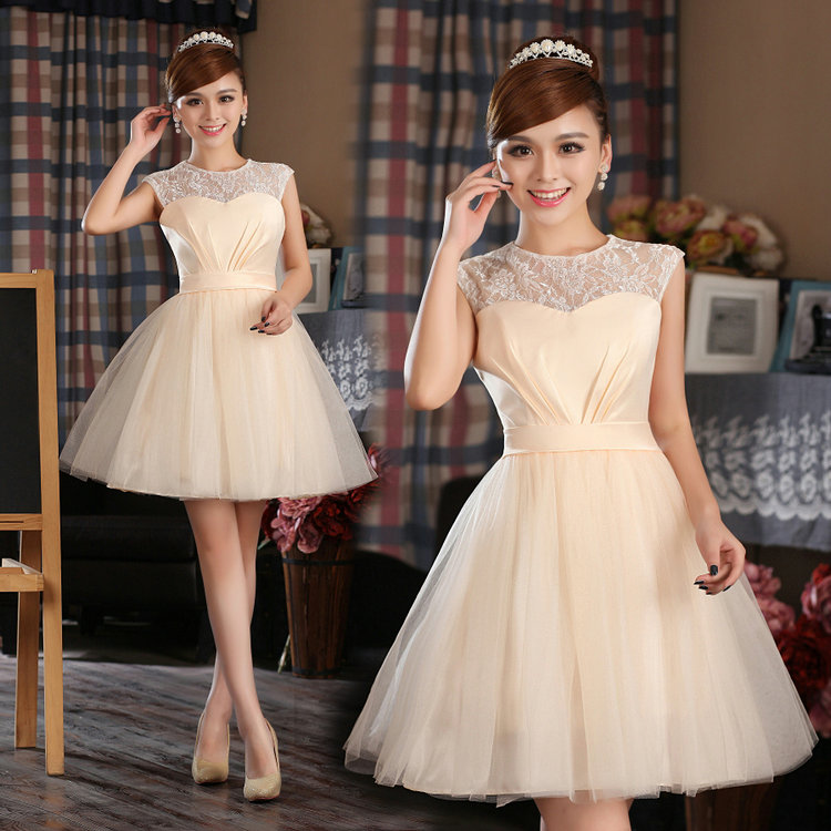 Fast Delivery Simple Beautiful Short Design Banquet Dress