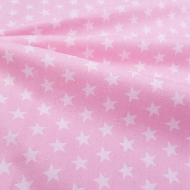 Various Sizes By Meters Cotton Twill Quilting Fabric Pink Series Star/Unicorn Printed Pure Cotton Patchwork DIY Sewing Material