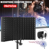 Studio Microphone Isolation Shield Sound Absorber Recording Foam Panel SL@88