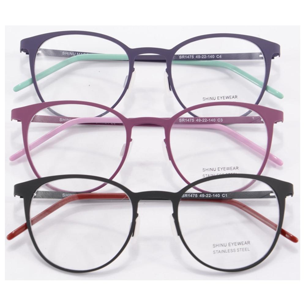 Tecnologia Round Metal Frame Glasses Women Round Eyeglass Frames