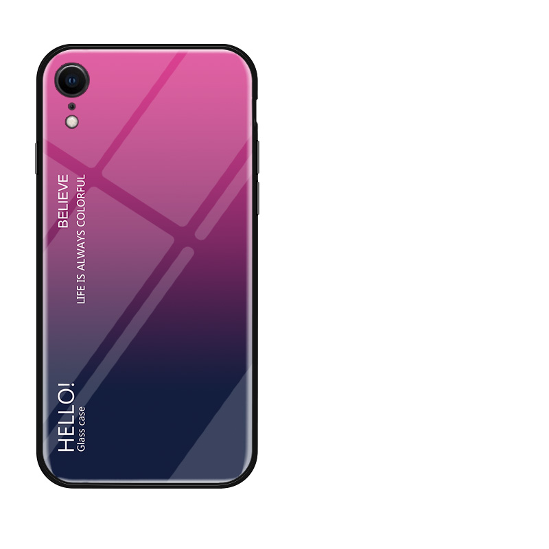 Image 5 - Gradient Tempered Glass Phone Case For iPhone X XR XS MAX 7 8 6S Phone Case Colorful Cover For iPhone 7 8 6 6S Plus Cases Fundas-in Fitted Cases from Cellphones & Telecommunications