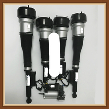 for MERCEDES benz CL & S W221 S350 S450 S500 S550 CL550 S63 AMG COMPLETE SET  AIR SUSPENSION STRUTS / SHOCKS compressor pump