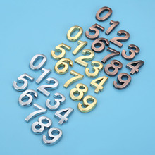 35mm ABS Plastic Sliver Self-Adhesive 0-9 Curved Door Numbers Customized House Address Sign custom made halo lit address numbers