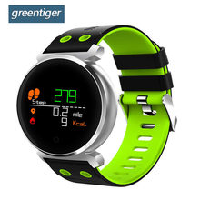 Greentiger K2 Bluetooth Smart Watch Colorful OLED Blood Pressure oxygen Smartwatch Heart Rate Monitor Waterproof Smart Band(China)