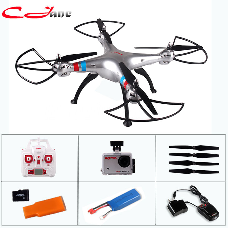 X8G 2.4G 4ch 6 Axis Venture with 5MP Wide Angle HD Camera RC Drone Quadcopter RTF Helicopter With 2PCS 2400mAh Battery Gift  yizhan tarantula x6 4 axis rc helicopter drone toy model can add wide angle 5mp or 2 mp camera with long remote distance 300m
