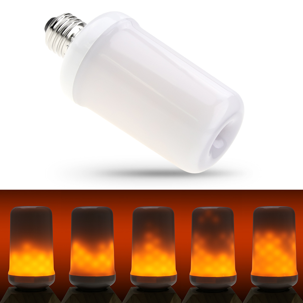 Creative Light E27 LED Bulb Flame Lamp 220V E14 LED Dynamic Flame Effect Bulb E26 110V Two Modes Emulation Fire Burning Flicker