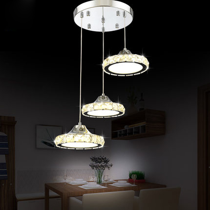 Modern Pendant Lights Crystal Pendant Lamp Lustres De Cristal Home Lighting Luxury Suspension Lamp Round Flush Mounted Lighting недорго, оригинальная цена