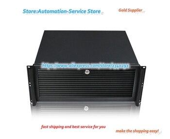 Ultra Short 4U Aluminum Industrial Chassis Panel Door Double Board Xeon Server