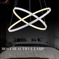 Fabrikanten gepatenteerde ontwerp, cirkel hanglamp, 2 blijkt sales. verschillende grootte combinaties! Art Slanke kroonluchters