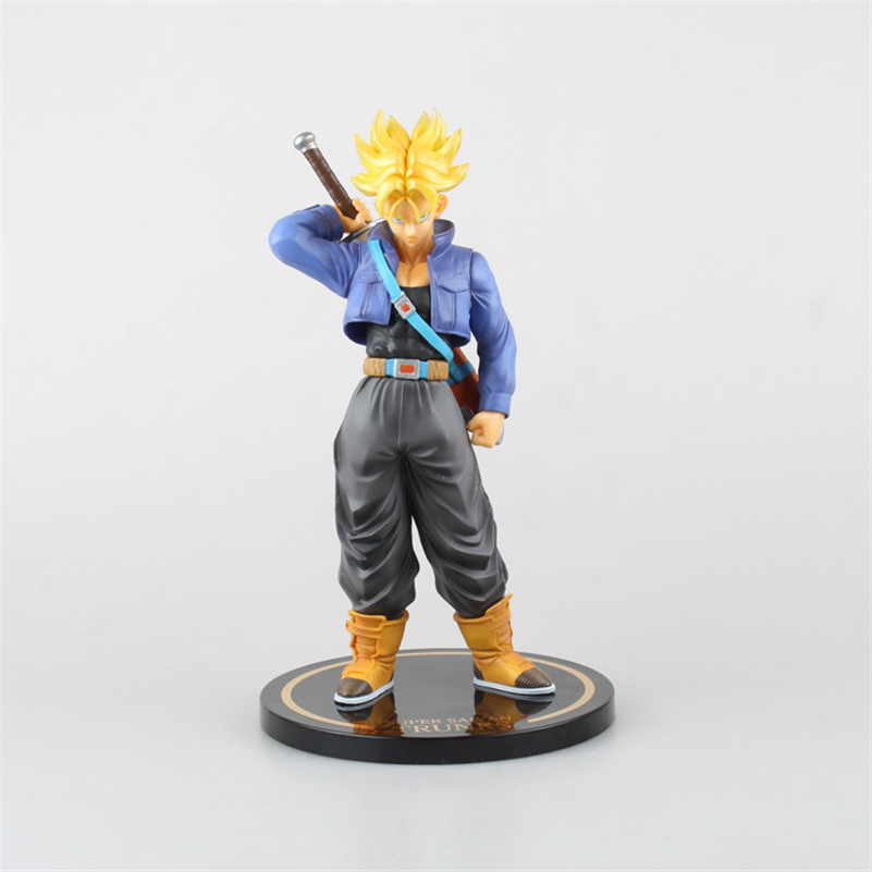 J.G Chen Free Shipping Dragon Ball Z Super Saiyan Cool Trunks Battle Version Boxed PVC Action Figure Model Collection Toy 24cm free shipping japanese animation cool dragonball z super saiyan trunks 23cm 9 2 pvc figure new in box