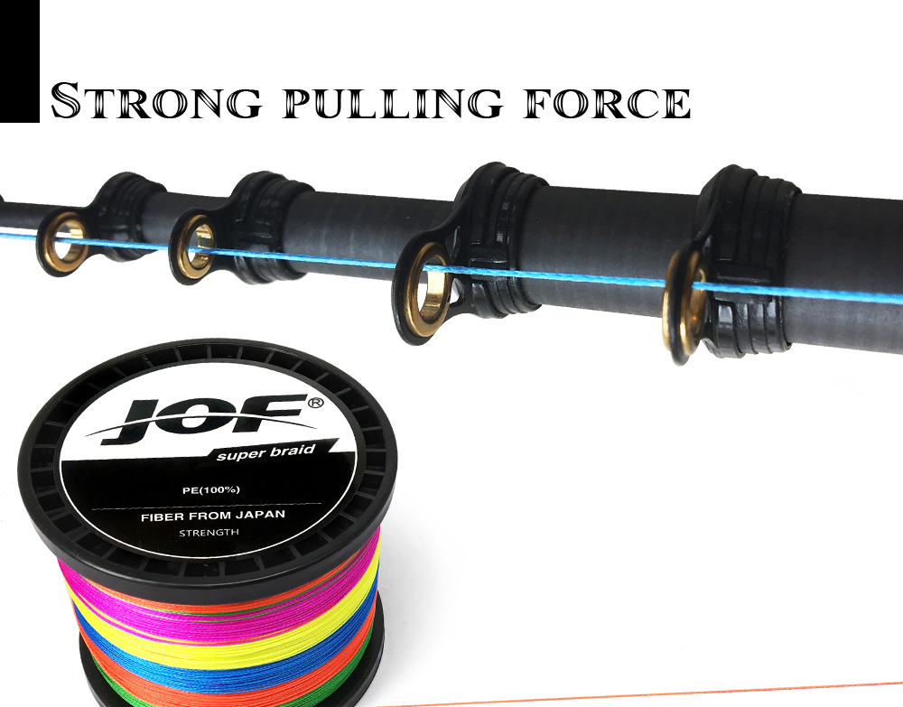 Multicolor 8 Strands 300M 500M 1000M PE Braid Fishing Line Sea Saltwater Fishing Weave 100% SuperPower JOF 19