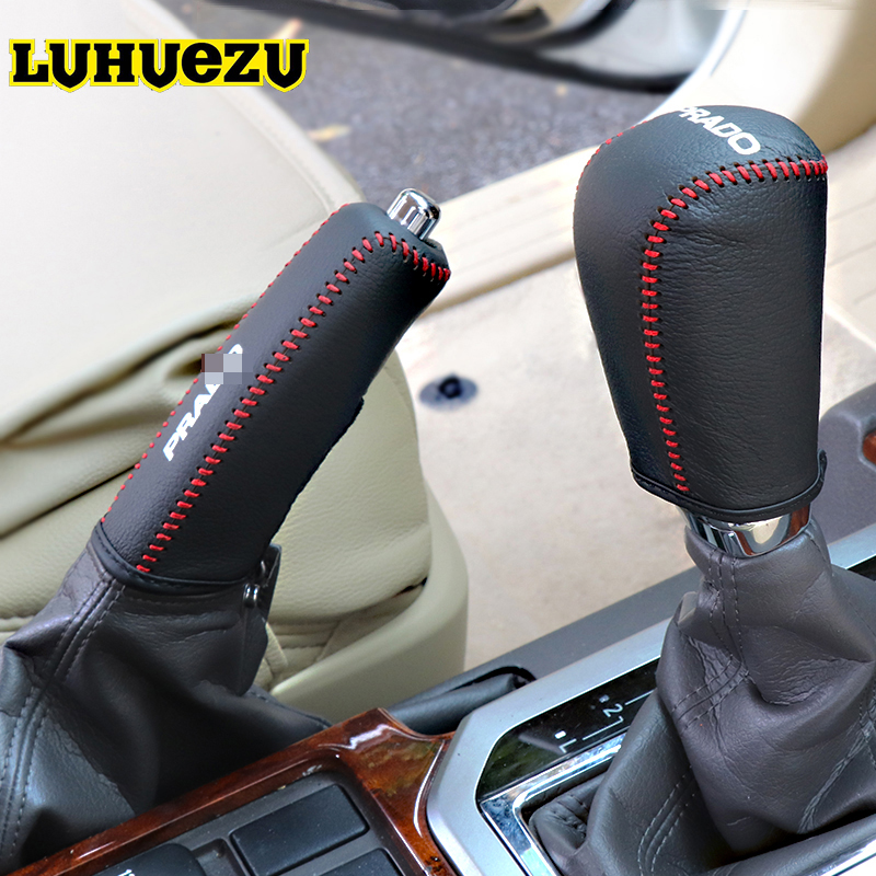 Hand Sewing Leather Car Gear Shift Knob For Toyota Land Cruiser Prado FJ150 2010 2011 2012 2013 2014 2015 2016 2017 Accessories car parts bumper protector guard skid plate for toyota prado fj150 2010 2011 2012 2013