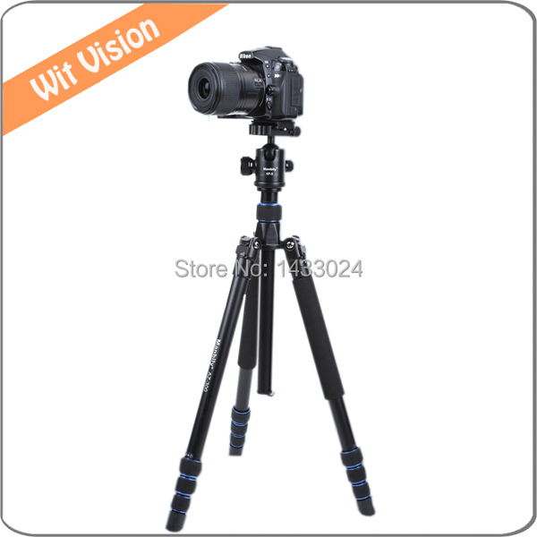 4 Sections Aluminum font b Camera b font Photographic Tripod Stand Portable Monopod With 360 Degree