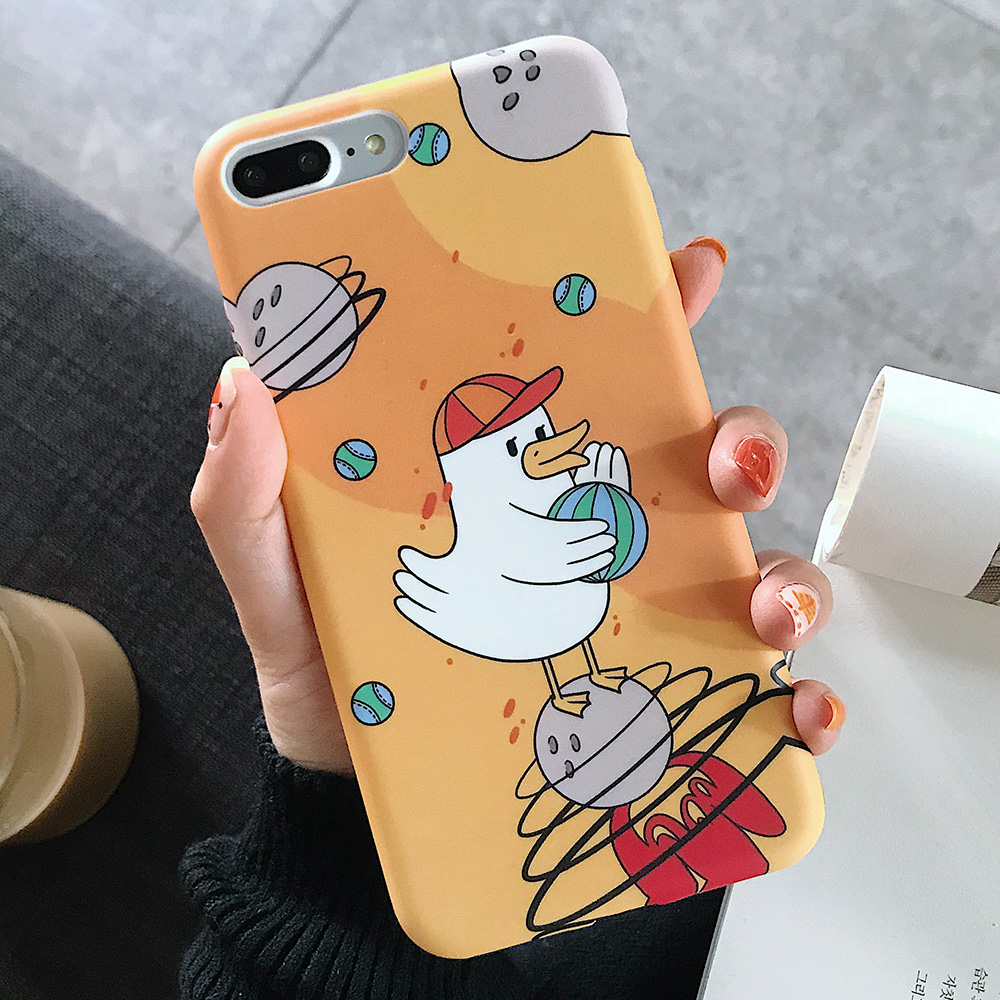 KIPX1123B_1_JONSNOW Solid Liquid Soft Silicone Case For iPhone X XR XS Max 6 6S 7 8 Plus Cases Painted Cartoon Chick Cat Pattern TPU Cover