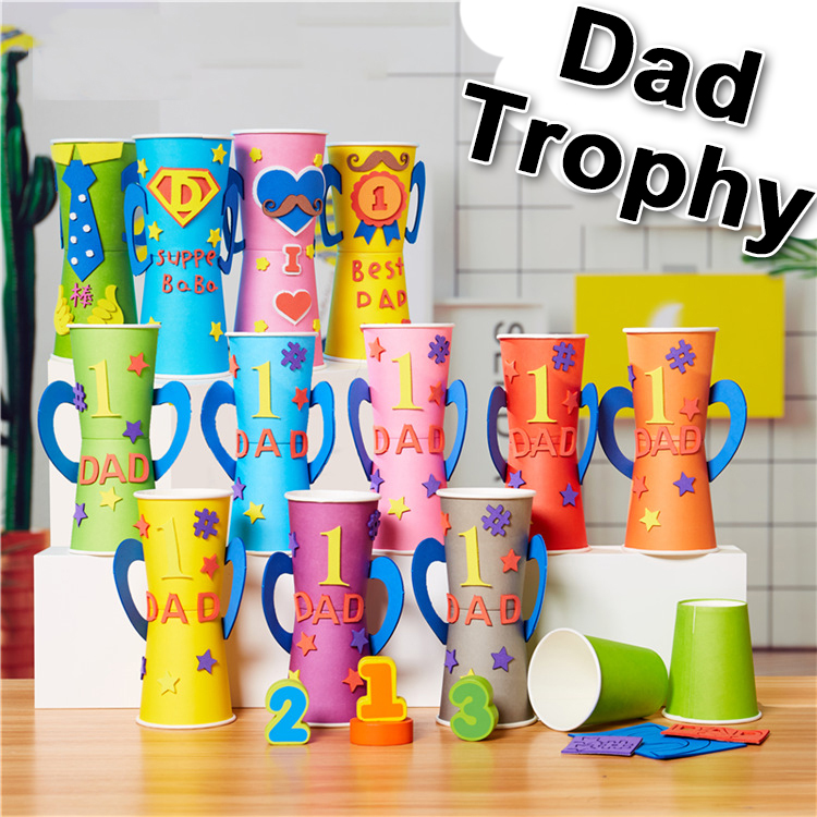 Kindergarten Lots Arts Crafts Diy Toys Dad Trophy/medal Crafts Kids Educational For Children's Toys Gift Girl/boy Christmas Gift