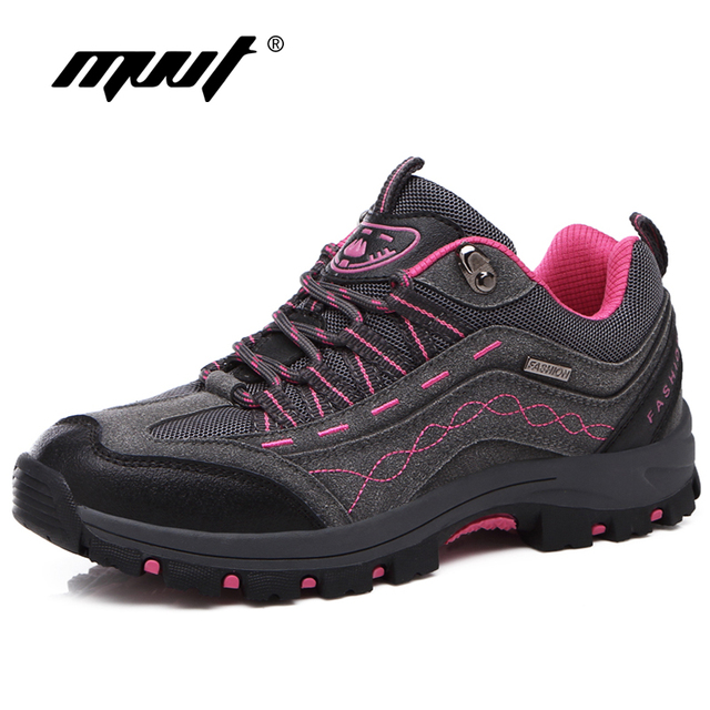 Quality Leather Unisex Men Outdoor Hiking Shoes Women Hiking Boots Winter Climbing Shoes Men Sneakers Breathable Trekking Shoes