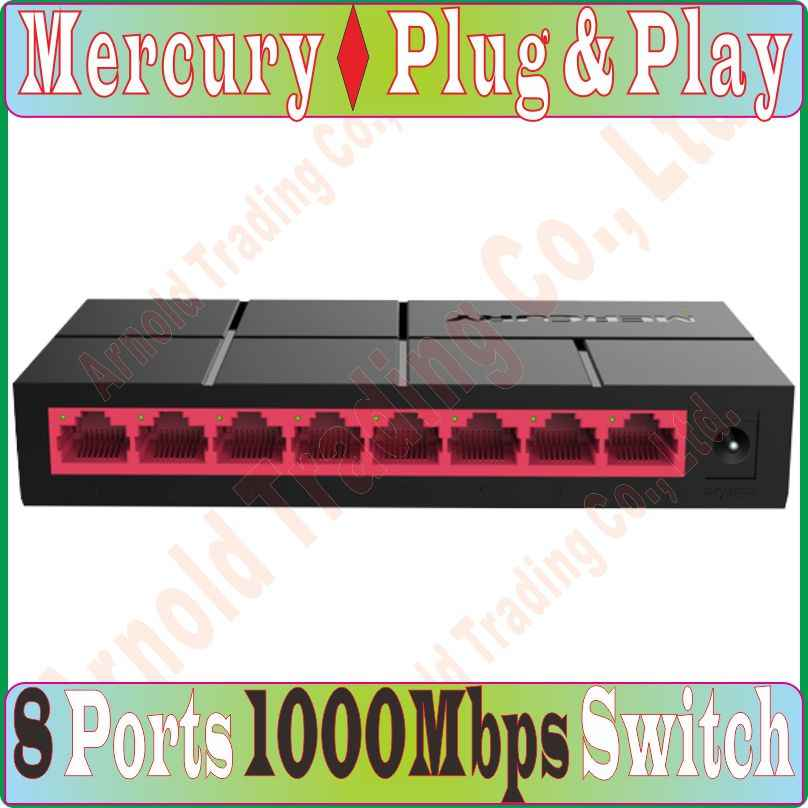 Mercurio SG108M Red 8 puertos Gigabit interruptor de escritorio 1000 Mbps Gigabit Ethernet Lan Hub completa/media intercambio dúplex baile-