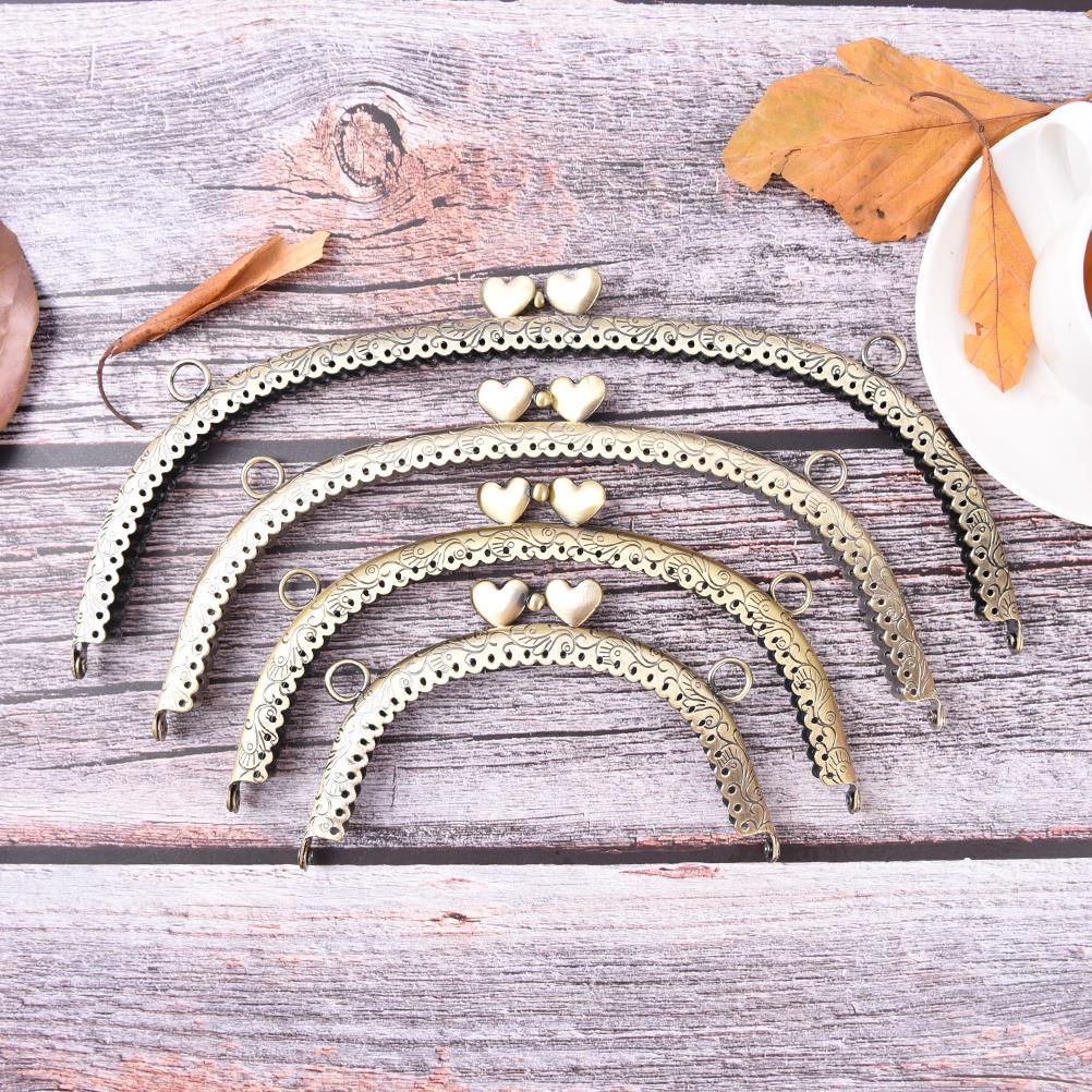 4 Größen Herz Diy Geldbörse Handtasche Griff Münze Tasche Metall Kuss Schließe Sperre Rahmen Griff Bogen Für Diy Geldbeutel Tasche Mode Griff Mutter & Kinder