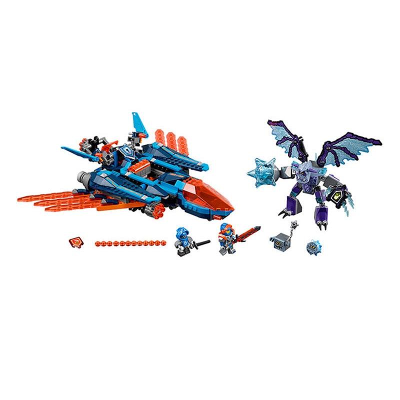 все цены на  Lepin 70351 Pogo Bela 10596 Nexus Nexo Knights Clay Falcon Fighter Blaster Models Building Blocks Bricks Compatible Legoe Toys  онлайн