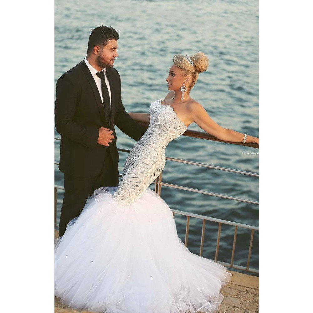 Buy said mhamad wedding dresses sexy lace for Aliexpress mermaid wedding dresses