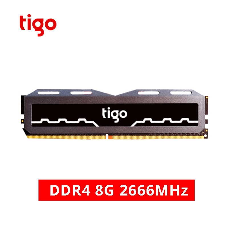 Tigo DDR4 PC RAM 8GB 2666MHz Gaming Memory Stable Heat dissipation DDR 4 Memoria For Desktop Fast Electronic Sport ComputerTigo DDR4 PC RAM 8GB 2666MHz Gaming Memory Stable Heat dissipation DDR 4 Memoria For Desktop Fast Electronic Sport Computer