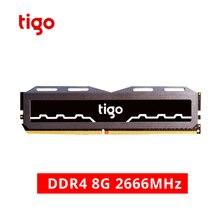 Tigo DDR4 ПК Оперативная память 8 ГБ 2666 МГц игровой памяти стабильный отвод тепла DDR 4 Memoria для настольных компьютеров быстро электронные спортивные компьютера