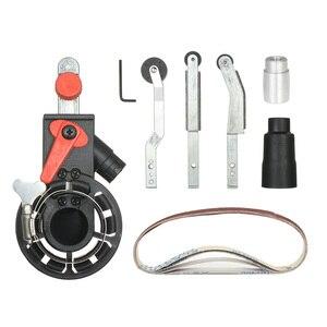 """Image 3 - Açı öğütücü Mini DIY zımpara zımpara kayışı adaptörü taşlama makinesi Bandfile kemer kafa zımpara 115mm 4.5 """"ve 125mm 5"""""""