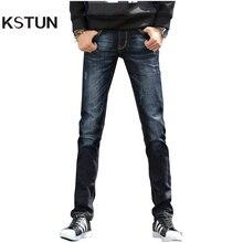 Kstun осенние джинсы мужские черные Slim Fit Stretch Бизнес Повседневное джинсовые штаны Корейский Япония Стиль длинные брюки большие Размеры мужчина 40