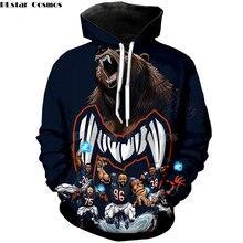 PLstar Cosmos football Americano di Modo 3D con cappuccio felpa con  cappuccio camicia fresca pullover Chicago 9f4e9439fde4