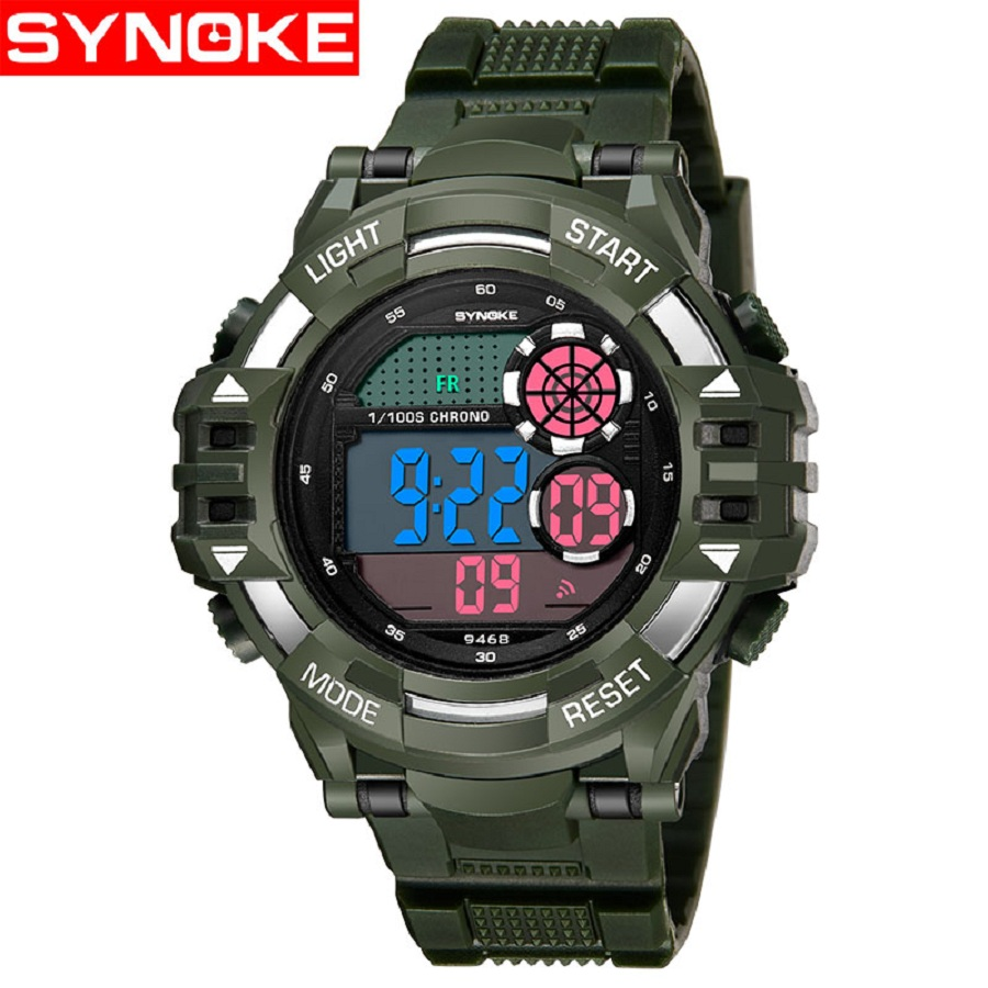 SYNOKE Digital Watch Men Sport Stop Watch Alarm Calendar LED Wrist Watches for Boy Electronic Clock reloj digital hombre Black цена 2017