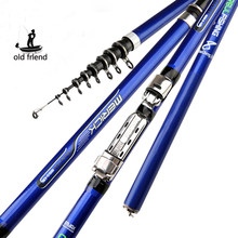 Serat Karbon 3.6M 4.5M 5.4M 6.3M Pemintalan Memancing Rod M Power Teleskopik Rock Memancing Rod Carp feeder Rod Surf Spinning Rod(China)
