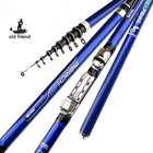 carbon fiber 3.6M 4.5M 5.4M 6.3M Spinning Fishing Rod M Power Telescopic Rock Fishing Rod Carp Feeder Rod Surf Spinning Rod