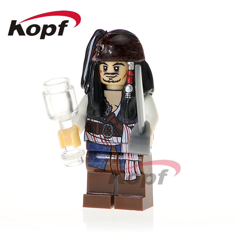XH 611 Jack Sparrow Hector Barbossa Carina Pirates of the Caribbean Bricks font b Model b