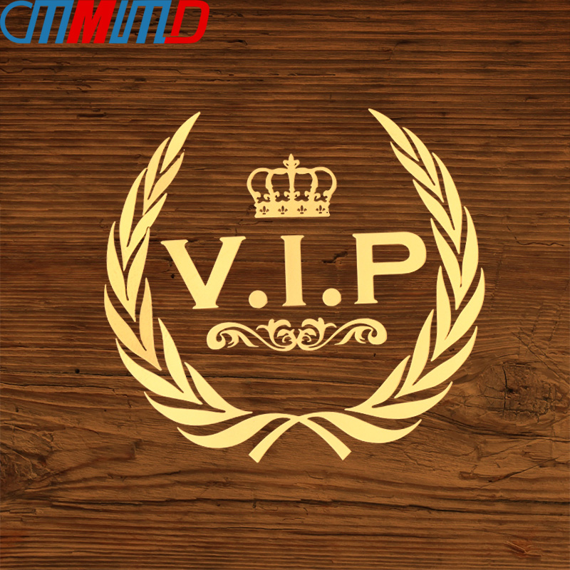 Car Styling 3D  Metal Three Ratels VIP Crown Emblem Metal Nickel Sticker For Phone Auto Products Gold Honorable Ornament