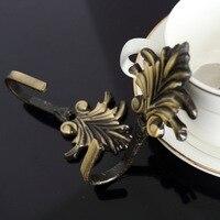 Flower Hook Curtain Accessories 2Pcs Leaf Curtain Drapery Tiebacks Door Wall Hat Hooks Holder Hanger Bronze