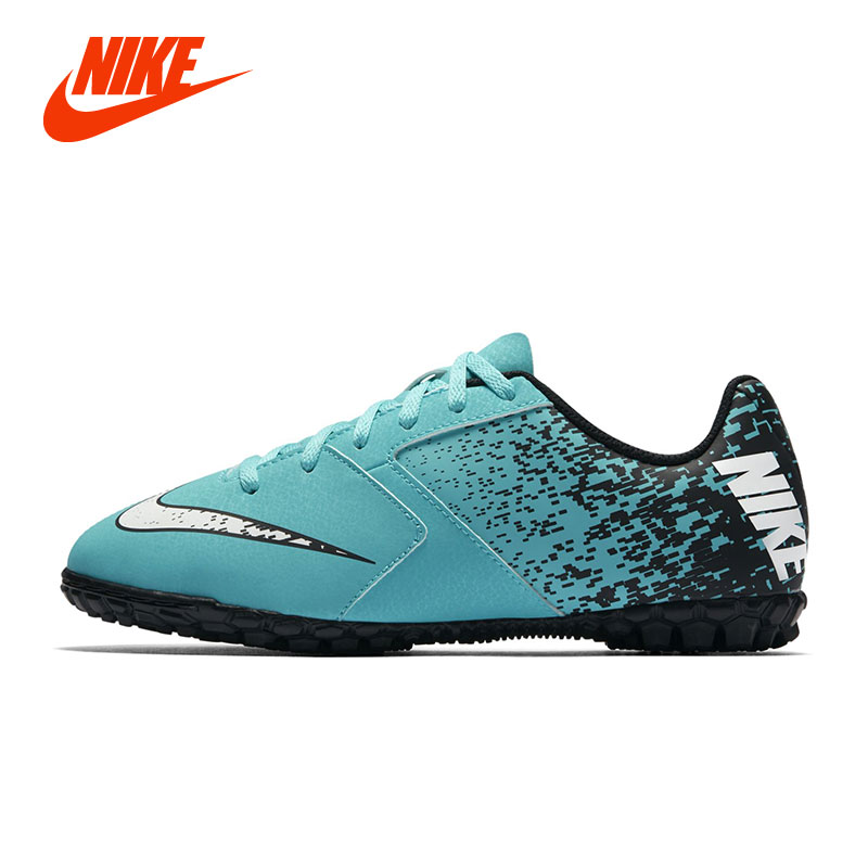 Original NIKE JR NIKE BOMBAX TF Soccer Shoe Boy Kids Indoor Outdoor Football Shoe Running Sport Sneakers tiebao a13135 men tf soccer shoes outdoor lawn unisex soccer boots turf training football boots lace up football shoes