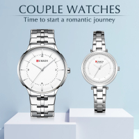 Couple Watch CURREN Men's Watches Top Brand Luxury Quartz Watch Men and Women Clock Fashion Casual lovers Watch Set for Sale