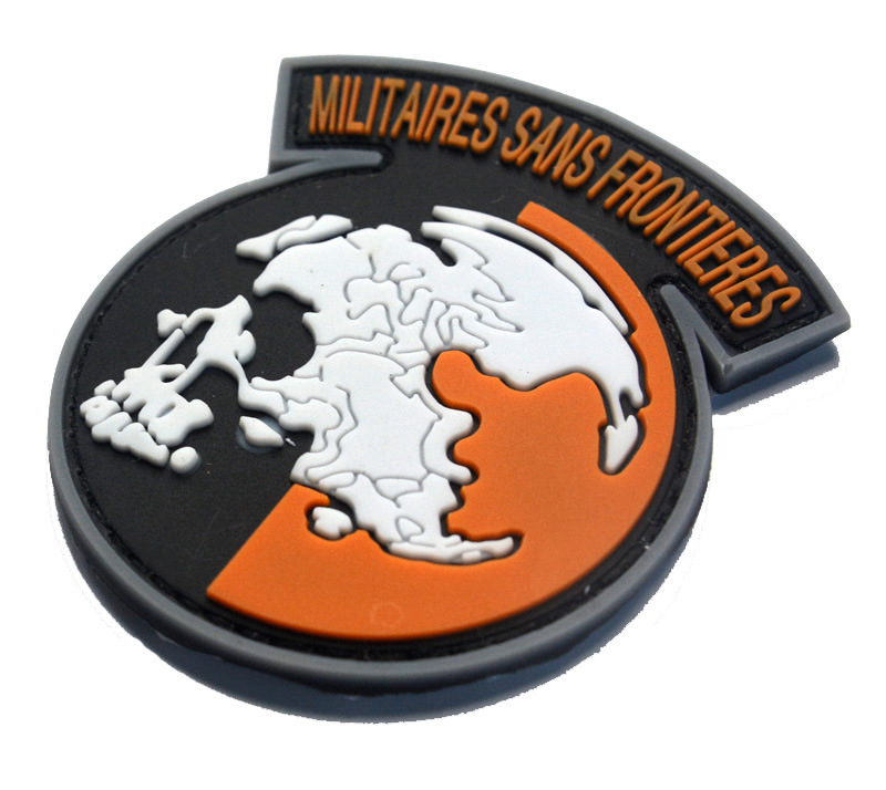 pvc metal peace walker militaires sans frontieres patch-in patches