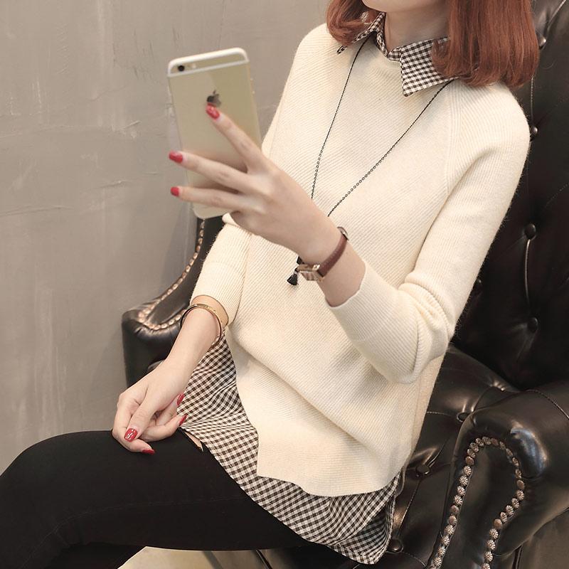 Suéter Edición rosado Primavera De Coreana Nueva Dobladillo Irregular Cielo Dos Puro Larga Conjuntos Traje Negro Color 2018 Productos blanco Camisa Femenina azul Suéter verde anqCqPwBxO