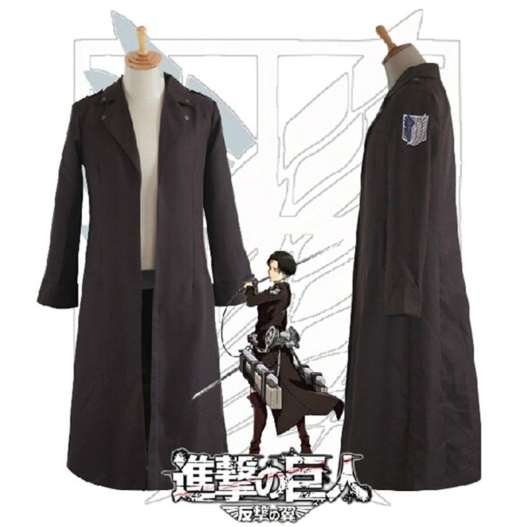 Аниме атака на Титанов Косплэй костюм Shingeki no Kyojin капитанов 2nd одежда Косплэй форма Recon корпус Rivaille плащ