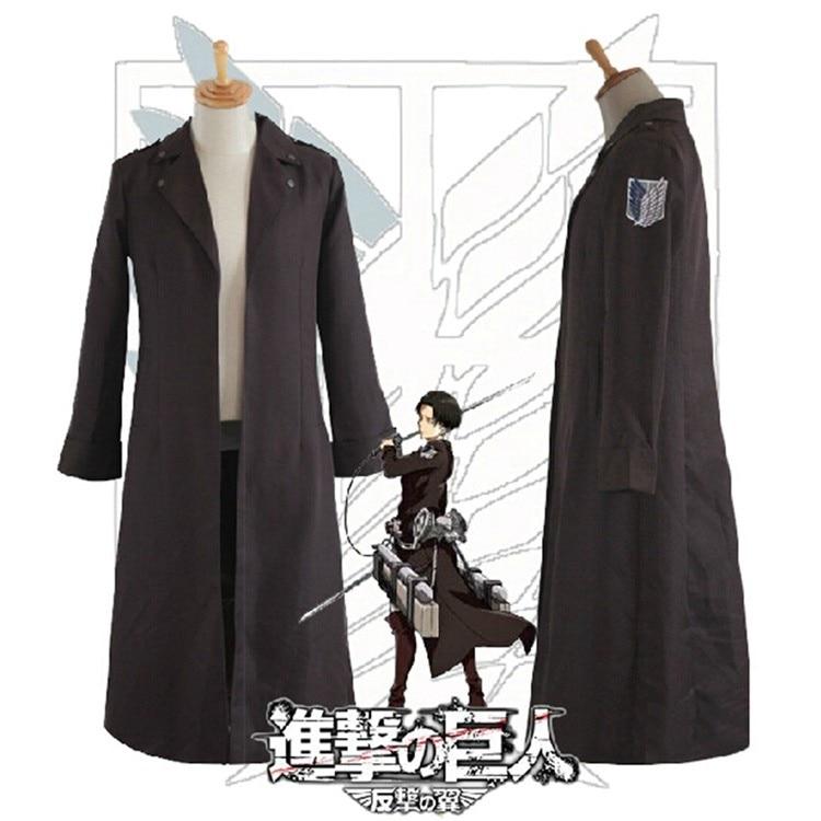 Anime Attaque sur Titan Cosplay Costume Shingeki pas Kyojin Capitaines 2nd Vêtements Cosplay Uniforme Recon corps Rivaille Manteau